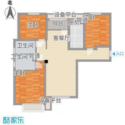 宝能城二期高层标准层F2户型