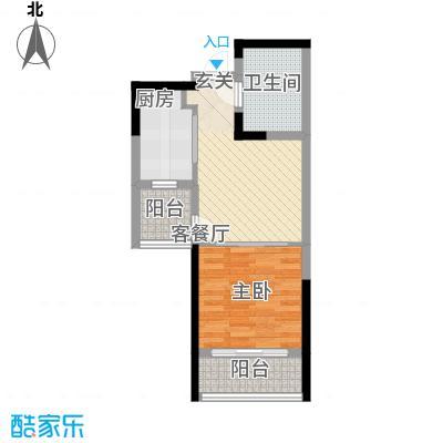 裕川家园55.00㎡户型