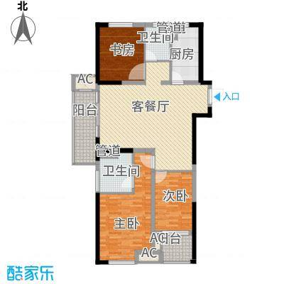 民生・瞰江郡14.00㎡C1户型3室2厅2卫