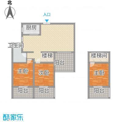 胜发国际广场16.00㎡22层高层B户型2室2厅1卫1厨