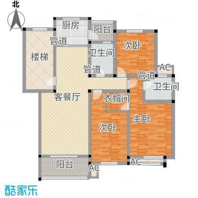 振业山水名城118.00㎡户型3室