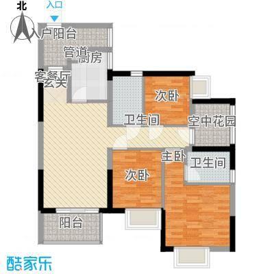 荔景山庄16.00㎡户型3室
