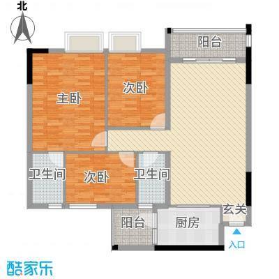 新东方花园11.00㎡户型3室2厅