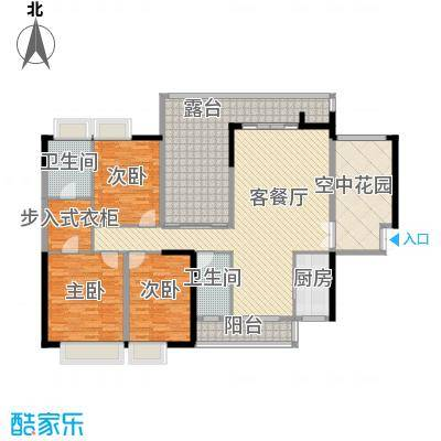 湖光山色168.57㎡1单元0、2单元0户型3室2厅2卫1厨
