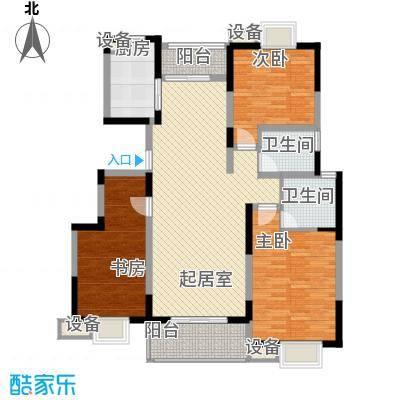 国际丽晶城123.50㎡G型户型3室