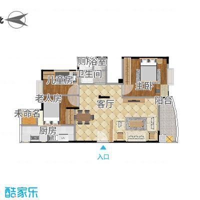 丰泽湖山庄-三房设计方案二-副本-副本-副本-副本-副本