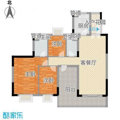 精英世家133.00㎡5栋01、02单位标准层户型4室2厅2卫1厨