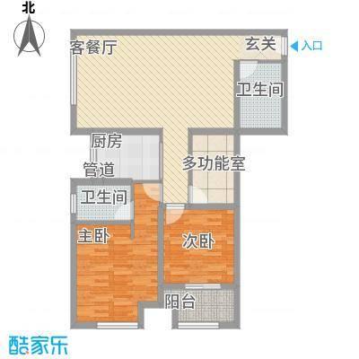 东城水岸户型3室2厅2卫1厨