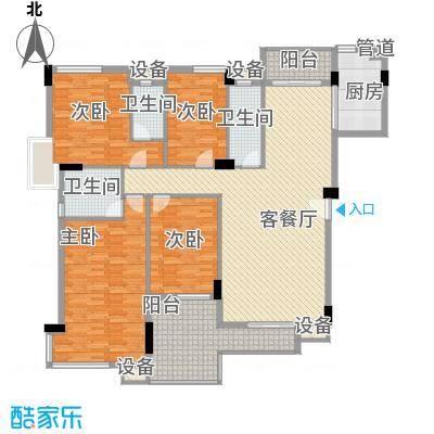 海逸锦绣桃园145.50㎡02栋1座02单元户型4室2厅3卫1厨