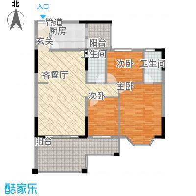 文海花园豪翠轩D座户型3室2厅2卫1厨