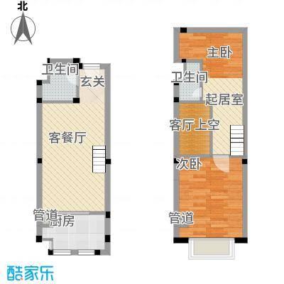 中环城72.00㎡公寓新H3-1户型1室1厅1卫1厨