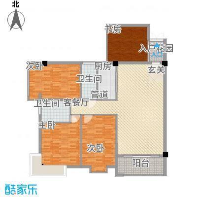 禹洲香槟城12.00㎡1#楼10单元户型3室2厅2卫1厨