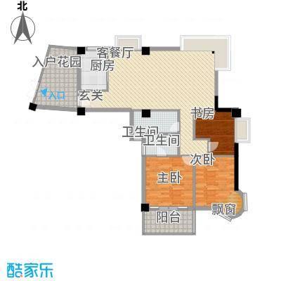 鼓浪湾123.24㎡听涛阁C1户型3室2厅2卫1厨