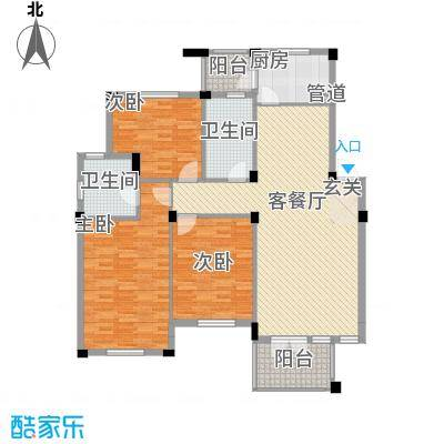 绿城桂花园户型3室