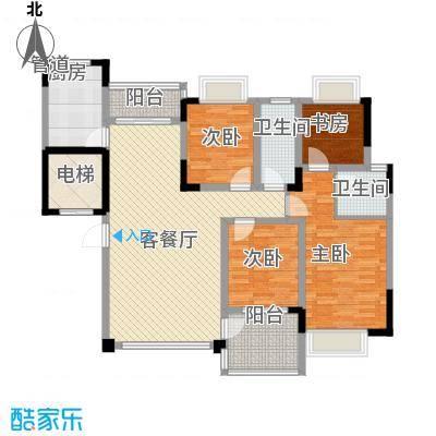 恒大华府户型3室