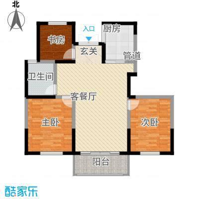 颖都上花园118.45㎡C户型3室2厅1卫1厨