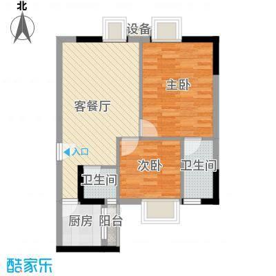 粤顺豪庭7.00㎡户型2室