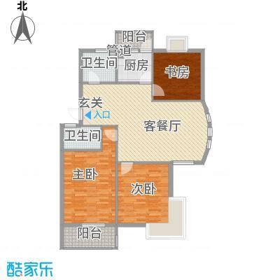 盛世嘉苑112.00㎡K型户型3室2厅2卫