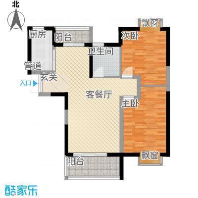 世纪城龙祥苑8.00㎡户型2室