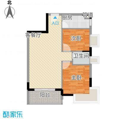 桃源居78.70㎡2、3栋6户型2室2厅1卫