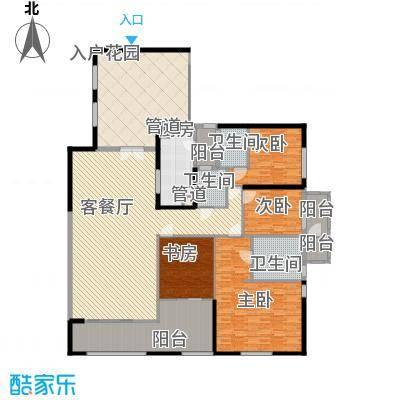 千灯湖一号公馆1户型4室2厅3卫1厨