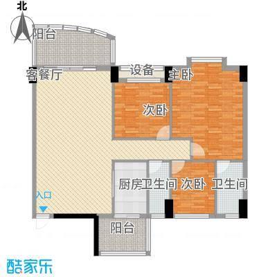 锦绣华庭31栋04单位户型3室2厅2卫1厨