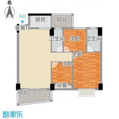 锦绣华庭31栋08单位户型3室2厅2卫1厨