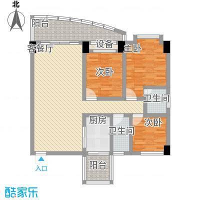 锦绣华庭113.00㎡30栋1002户型3室2厅2卫1厨