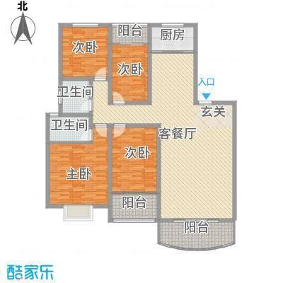 东城花园18.00㎡户型4室2厅2卫1厨