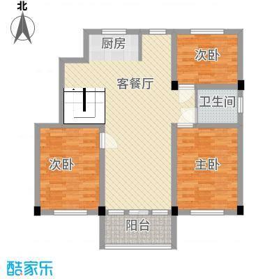 华城新村111.00㎡二期9号楼标准层D户型3室2厅1卫1厨