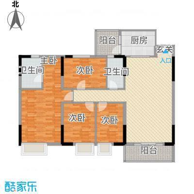 新东方花园118.00㎡户型4室2厅