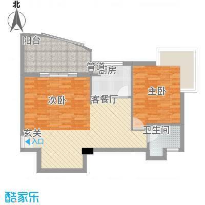 华森公园首府7.53㎡7、8#标准层01、02单元户型1室2厅2卫1厨