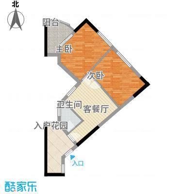 悦美��7.00㎡海逸・雅致户型2室1厅1卫1厨