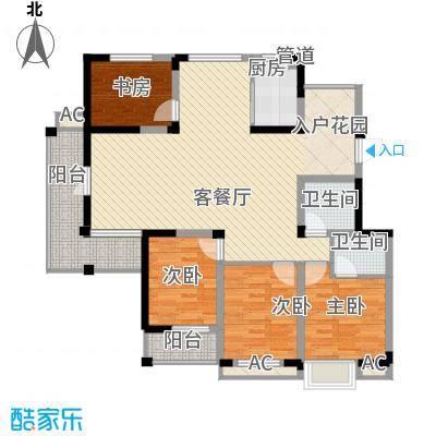 东方塞纳145.41㎡D8户型4室2厅2卫1厨