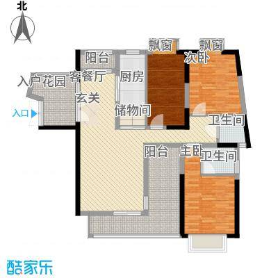 悦美��海湾B户型3室2厅3卫1厨