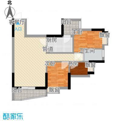 顺联新城花园73.00㎡户型