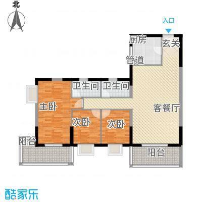 太微花园D户型3室2厅2卫1厨