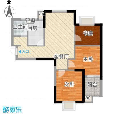 百乐门悦府户型3室