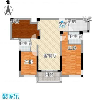 雅戈尔锦绣东城118.00㎡已售罄-2期E2户型3室2厅2卫1厨
