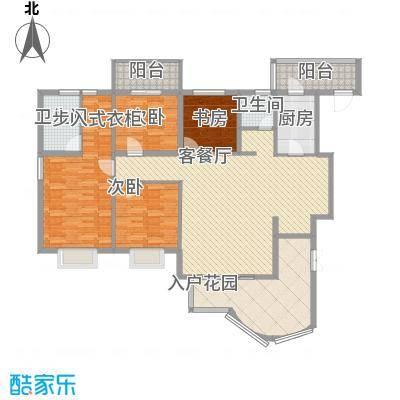 亿力百家苑一区4-18层A1单元户型3室2厅2卫1厨