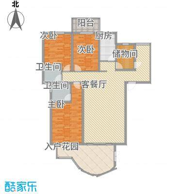 亿力百家苑三区b4-27层D1单元户型3室2厅2卫1厨