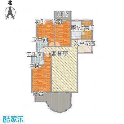亿力百家苑三区a3-28层C1单元户型3室2厅2卫1厨