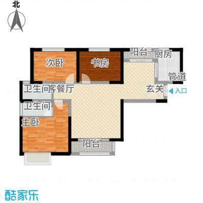 辰宇世纪城12.00㎡19#A1户型3室2厅2卫1厨