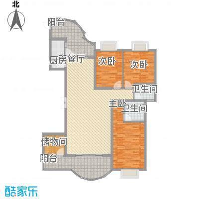 亿力百家苑三区a4-28层C2单元户型3室2厅2卫1厨