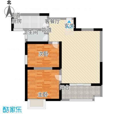 辰宇世纪城19#B2户型2室2厅1卫