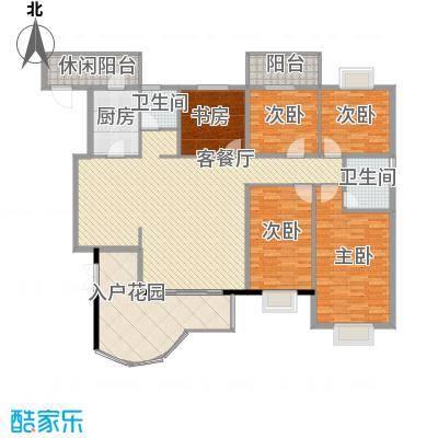 亿力百家苑一区4-18层A2单元户型3室2厅2卫1厨