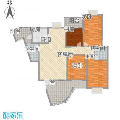 亿力百家苑二区3-29层B2单元户型3室2厅2卫1厨