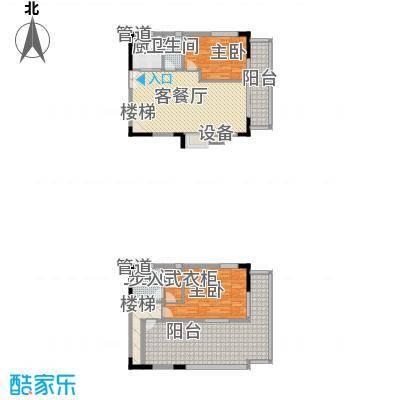 丰融尚城133.85㎡C栋(18、19)05户型2室2厅1卫1厨