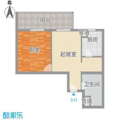 霞光苑3.00㎡户型1室