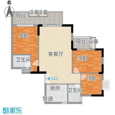 丰融尚城138.41㎡C栋(5-17)04户型3室2厅2卫1厨